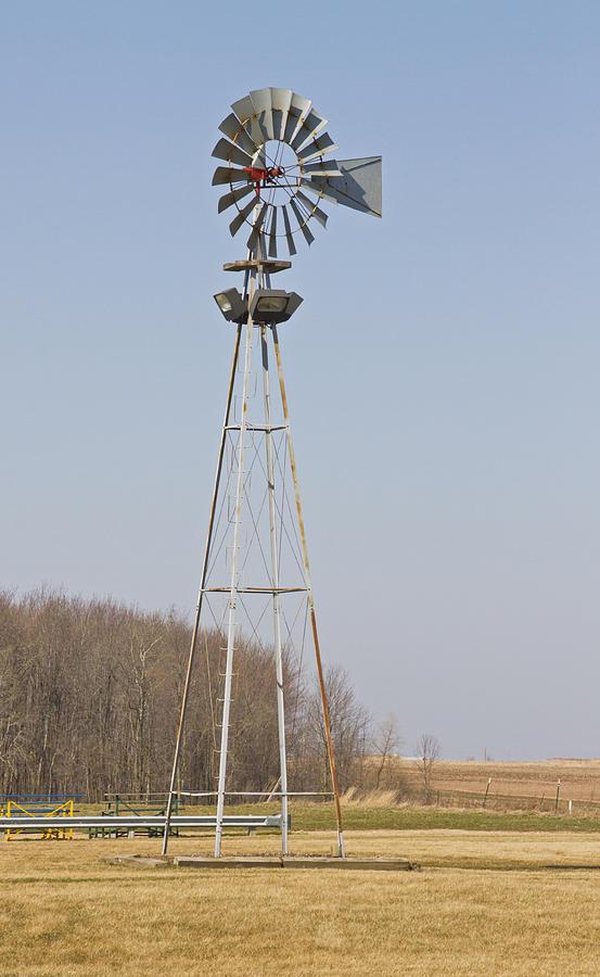 Windmill Photograph - The Farm Windmill by Wayne Stabnaw