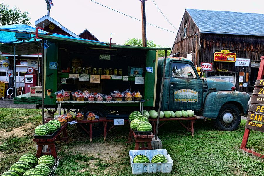 Farmer's Market Photograph - The Farmers Truck by Paul Ward
