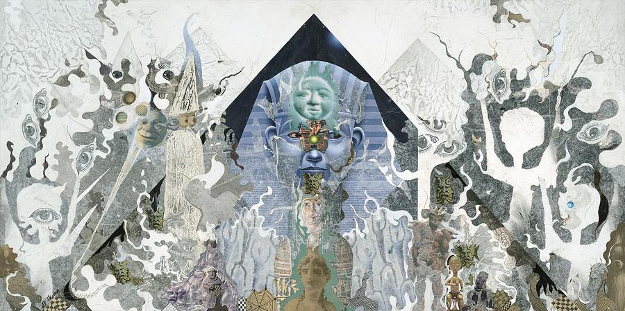 Collage Mixed Media - The Faroah Of Funkadelphia by Douglas Fromm