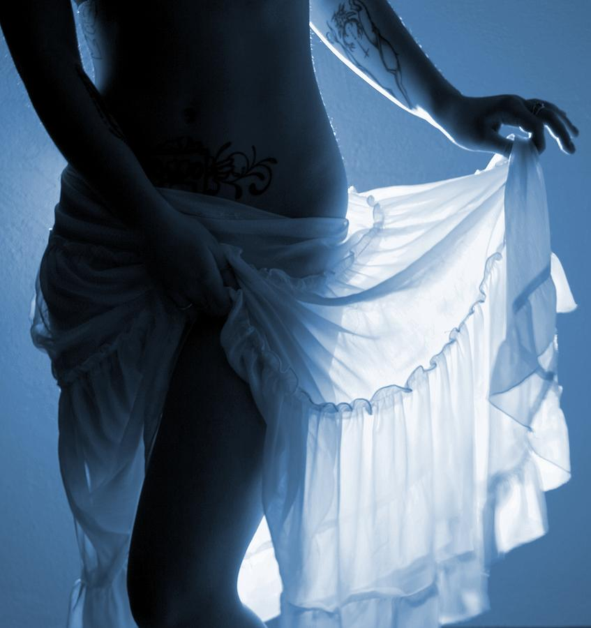 Blue Photograph - The Feminine- Walking In Her Moonlight by Nyla Alisia