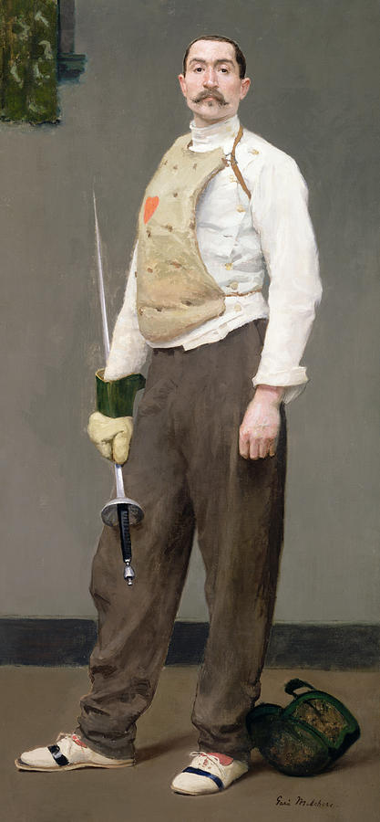 The Fencing Master Painting - The Fencing Master by Julius Gari Melchers