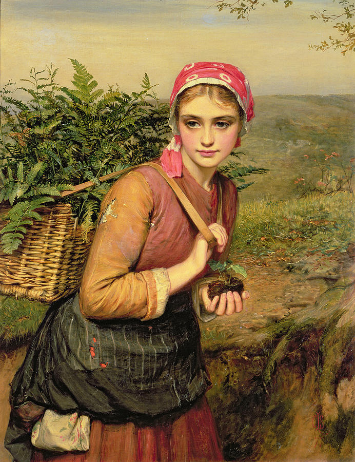 Charles Sillem Lidderdale Painting - The Fern Gatherer by Charles Sillem Lidderdale