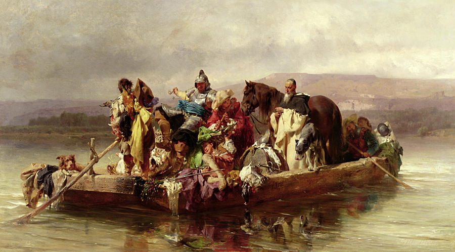 The Painting - The Ferry  by Johann Till