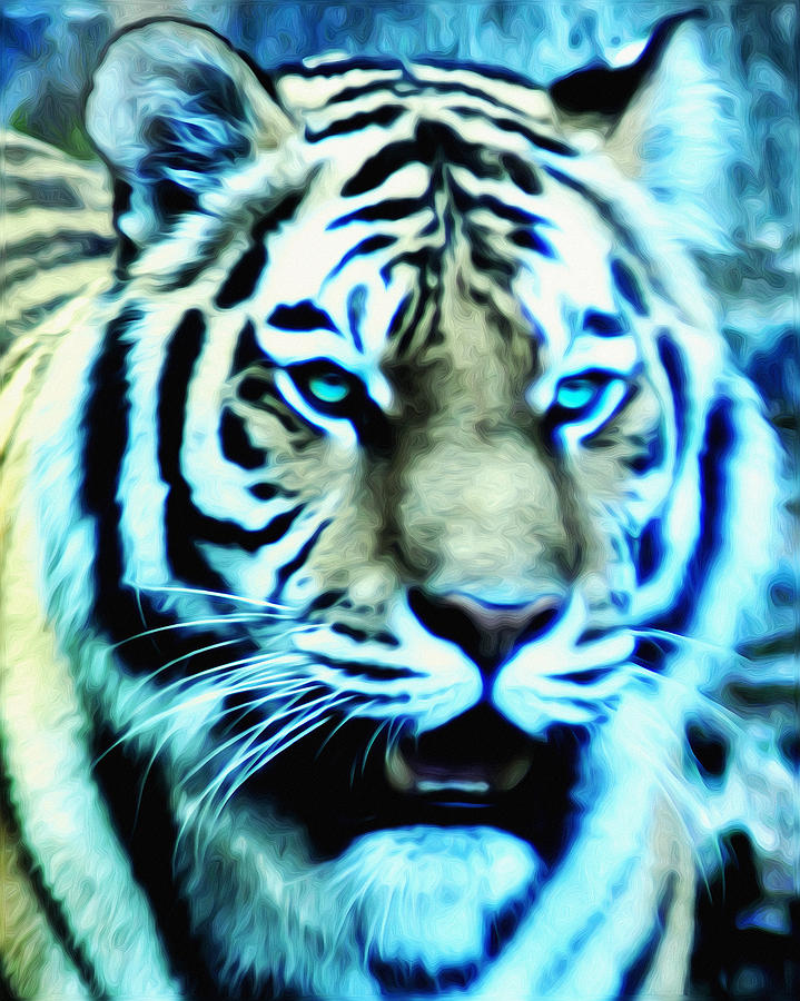The Fierce Tiger Photograph - The Fierce Tiger by Bill Cannon