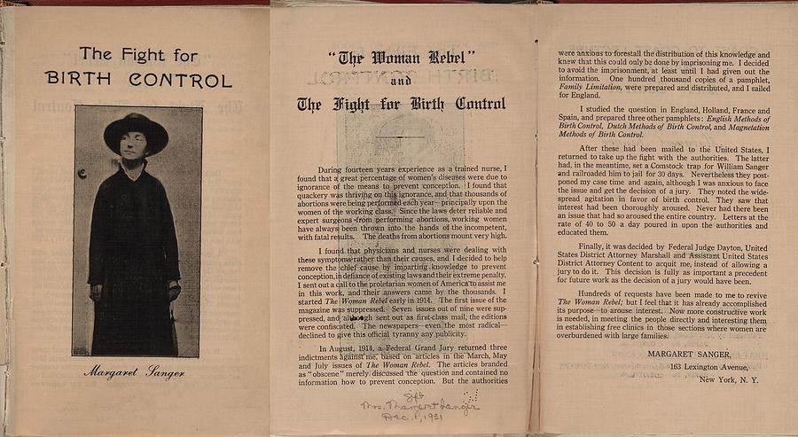 History Photograph - The Fight For Birth Control, A Pamphlet by Everett