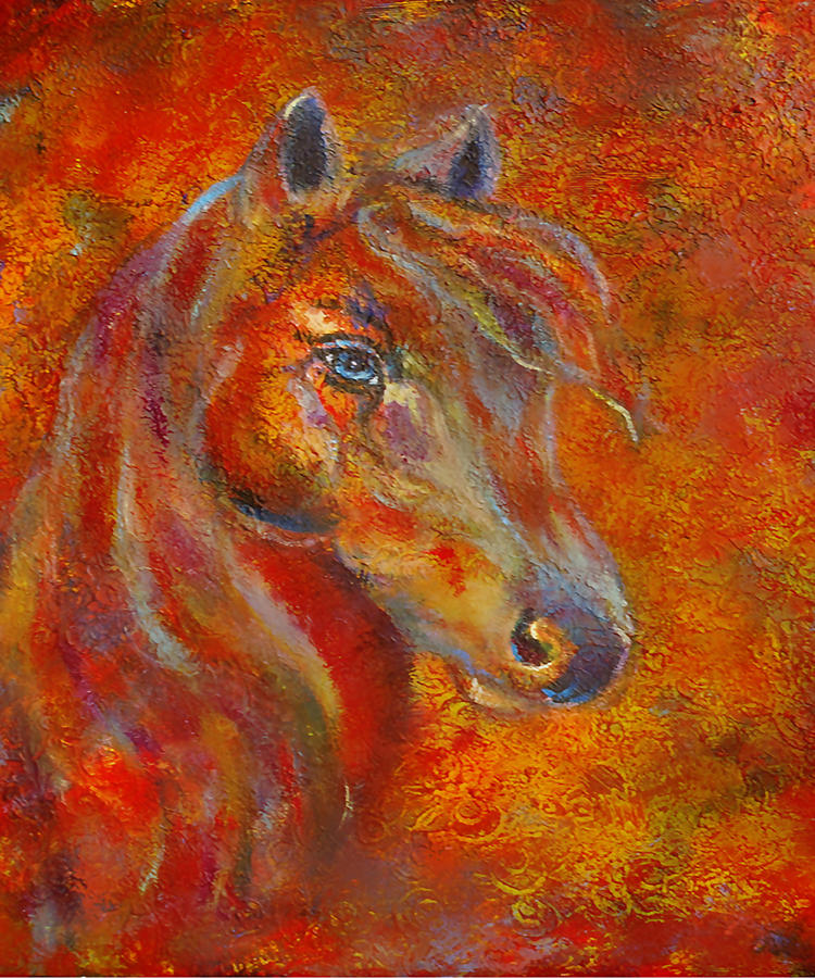 Horse Painting Painting - The Fire Of Passion by The Art With A Heart By Charlotte Phillips