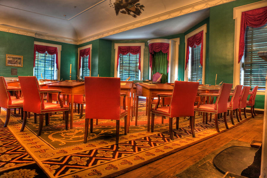 America Photograph - The First American Congress Senate Chamber - Independence Hall - Congress Hall -  by Lee Dos Santos