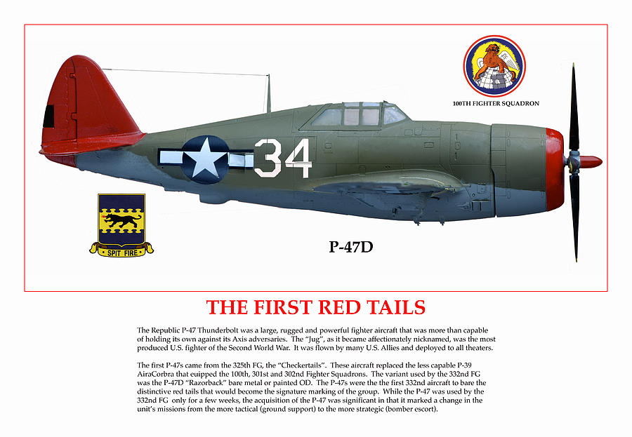 Aviation Digital Art - The First  Red Tails by Jerry Taliaferro