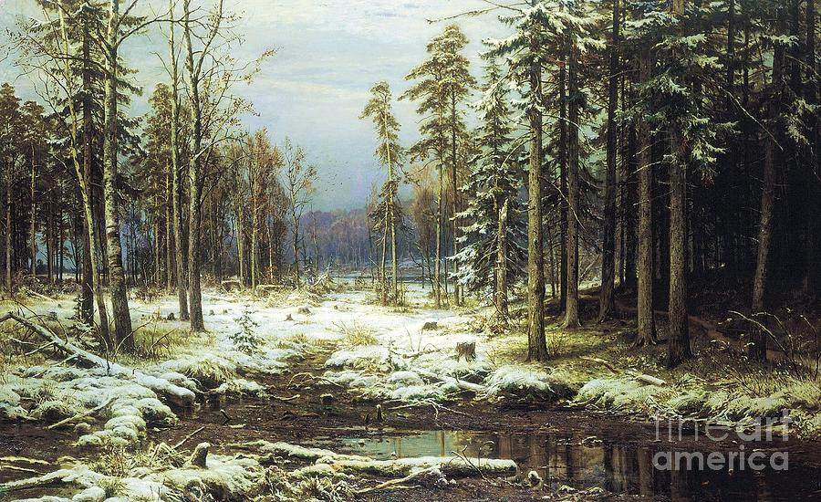 Pd Painting - The First Snow by Pg Reproductions