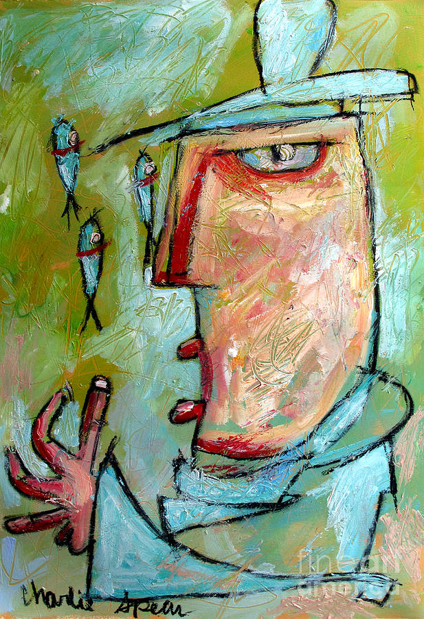 Fisg Juggler Painting - The Fish Jugglers Son by Charlie Spear