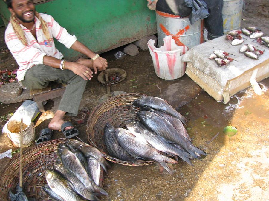 Fish Photograph - The Fish Seller by David Pantuso