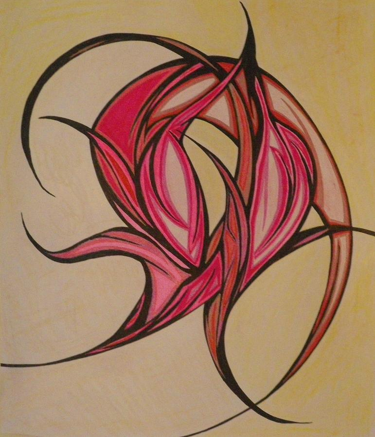 Abstract Drawing - The Flip by Tara Francoise