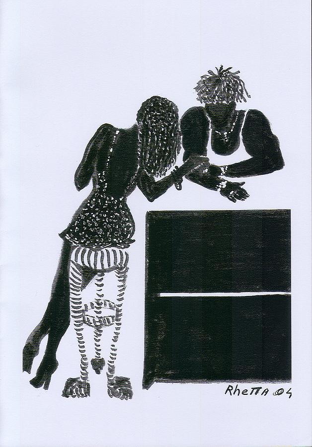 Woman Drawing - The Flirt by Rhetta Hughes