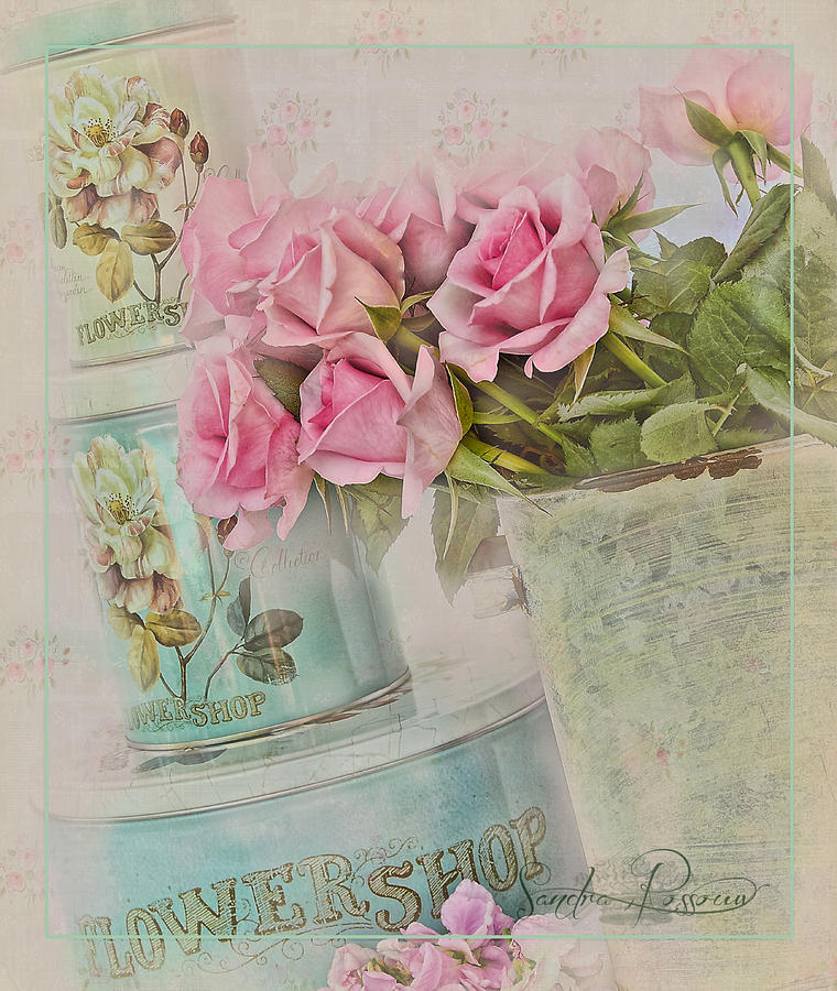 Pink Photograph - The Flower Shop  by Sandra Rossouw