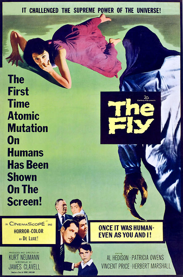 1950s Poster Art Photograph - The Fly, Bottom Center, Clockwise by Everett