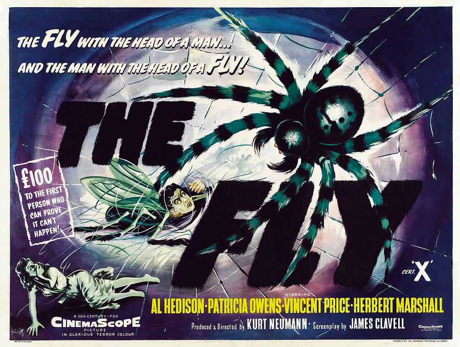 1950s Poster Art Photograph - The Fly, David Hedison Aka Al Hedison by Everett