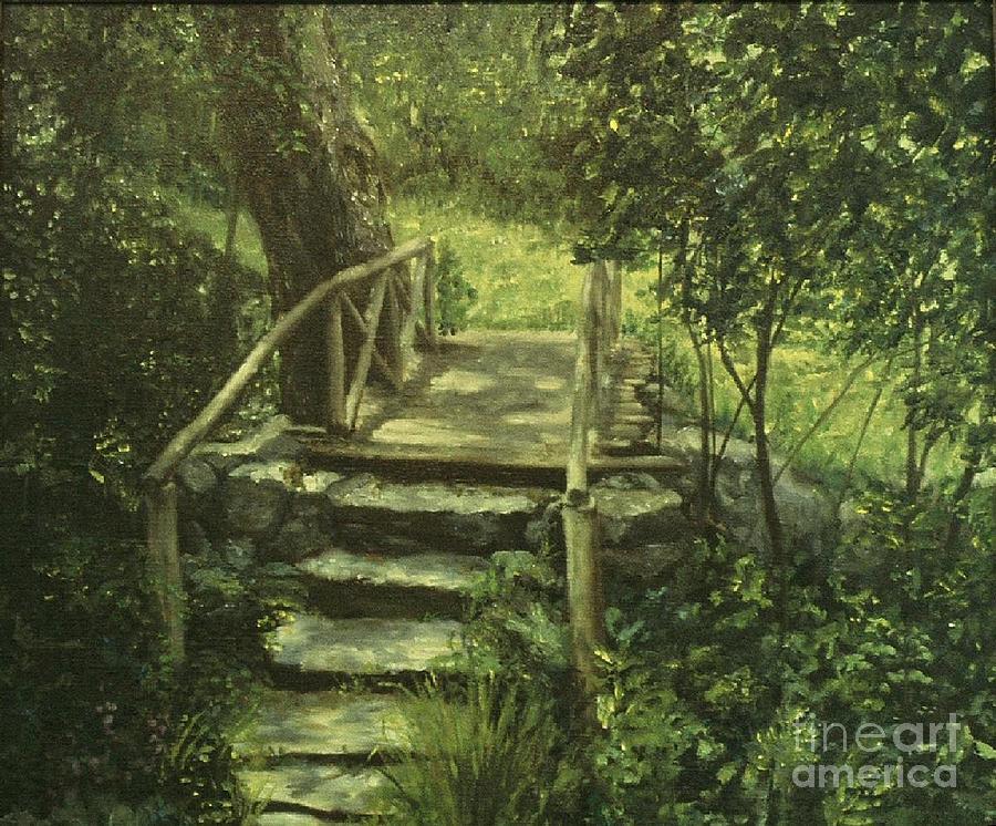 The Footbridge Painting