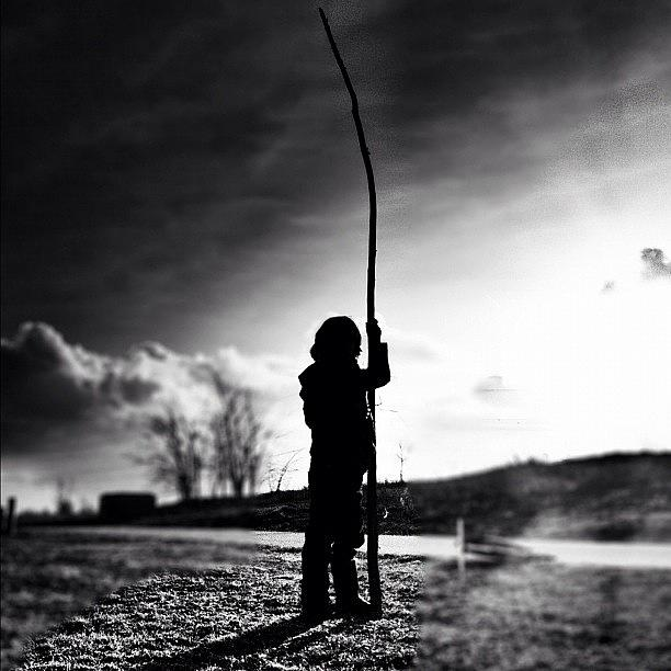 Kid Photograph - the Force Is Strong With This One by Robbert Ter Weijden