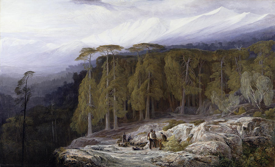 The Painting - The Forest Of Valdoniello - Corsica by Edward Lear