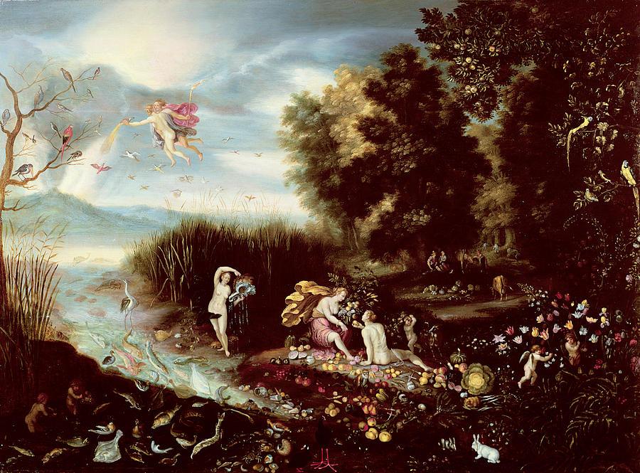 Four Elements Art : The four elements painting by flemish school