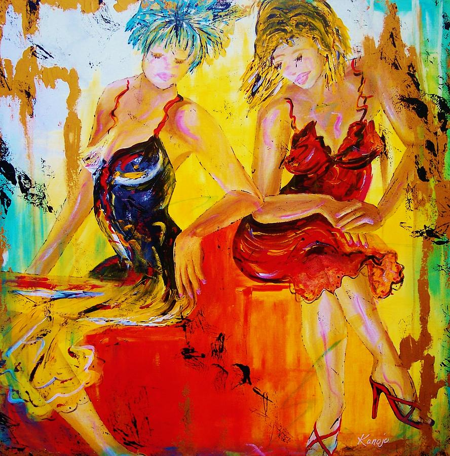 Fashion Painting - The French Conversation by Wendy Winbeckler