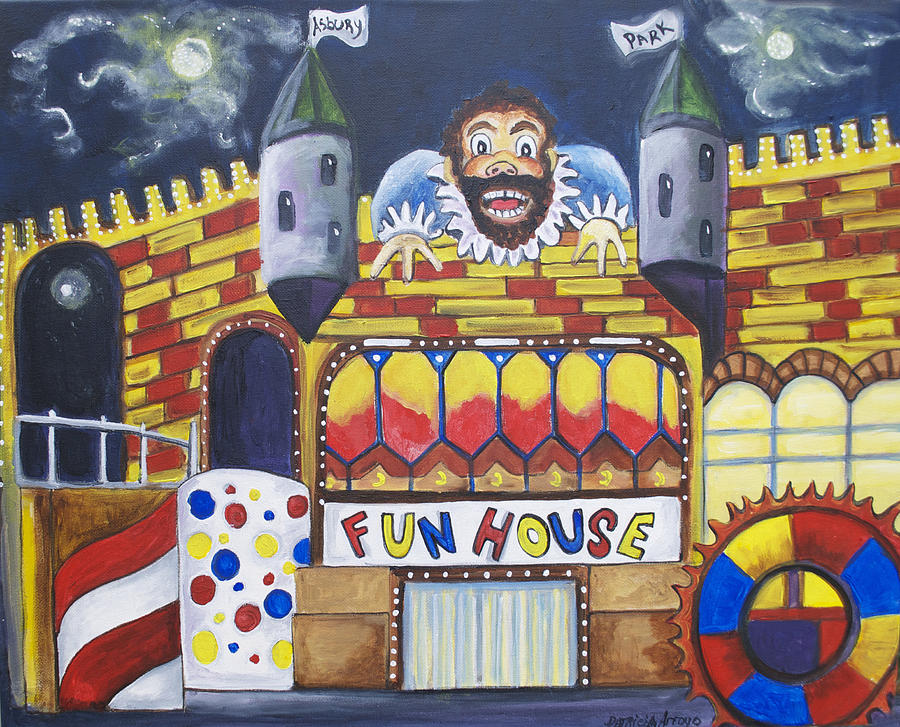 Asbury Art Painting - The Funhouse Castle by Patricia Arroyo