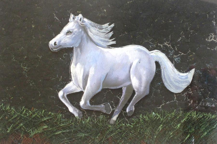 The Galloping Horse Painting - The Galloping Horse- by Rejeena Niaz