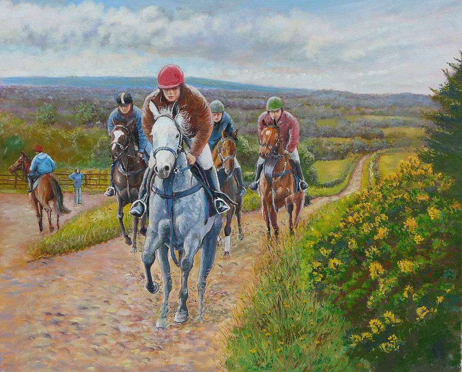 Gallops  Painting - The Gallops by Tomas OMaoldomhnaigh