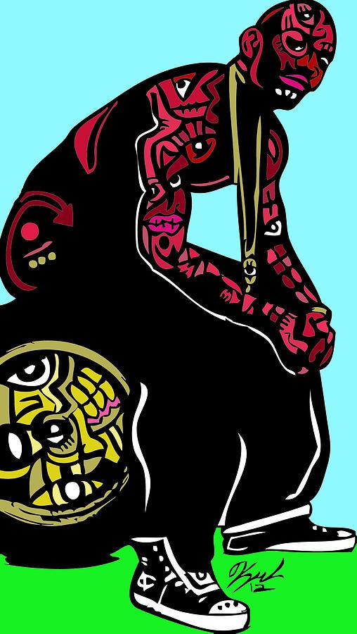 Thegame Digital Art - The Game Full Color by Kamoni Khem