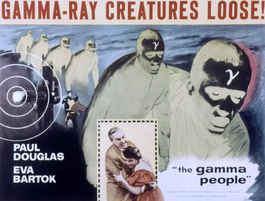 1950s Poster Art Photograph - The Gamma People, Paul Douglas, Eva by Everett