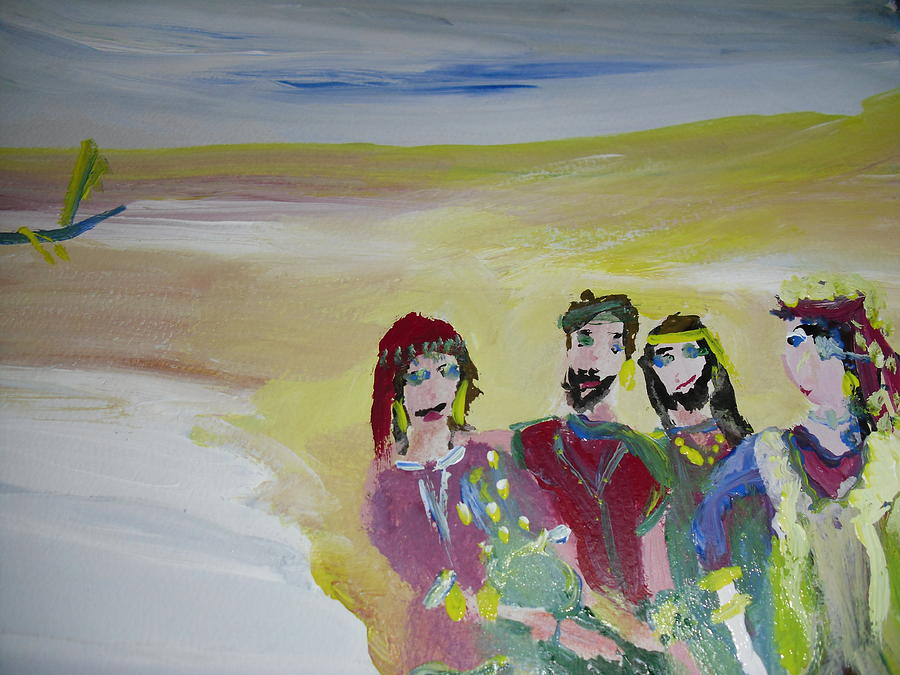 Friends Painting - The Gang by Judith Desrosiers