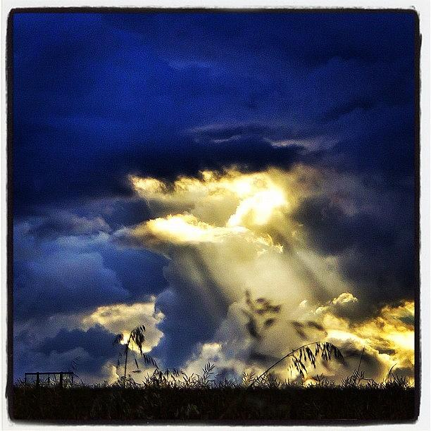 Love Photograph - The Gap In The Clouds by Carl Milner