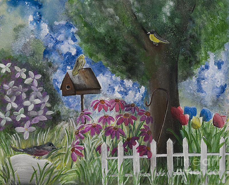 Garden Painting - The Garden by Barbara McNeil