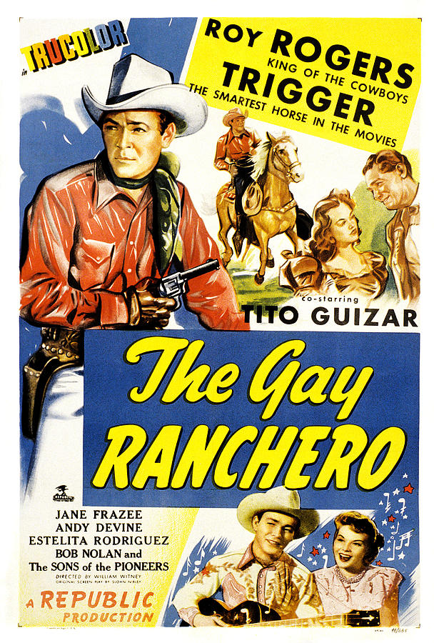 1940s Movies Photograph - The Gay Ranchero, Roy Rogers, Trigger by Everett