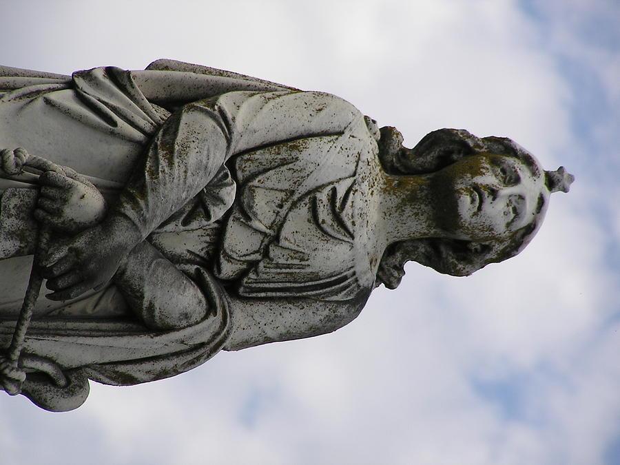 Statue Photograph - The Gazer by Andrea Drake