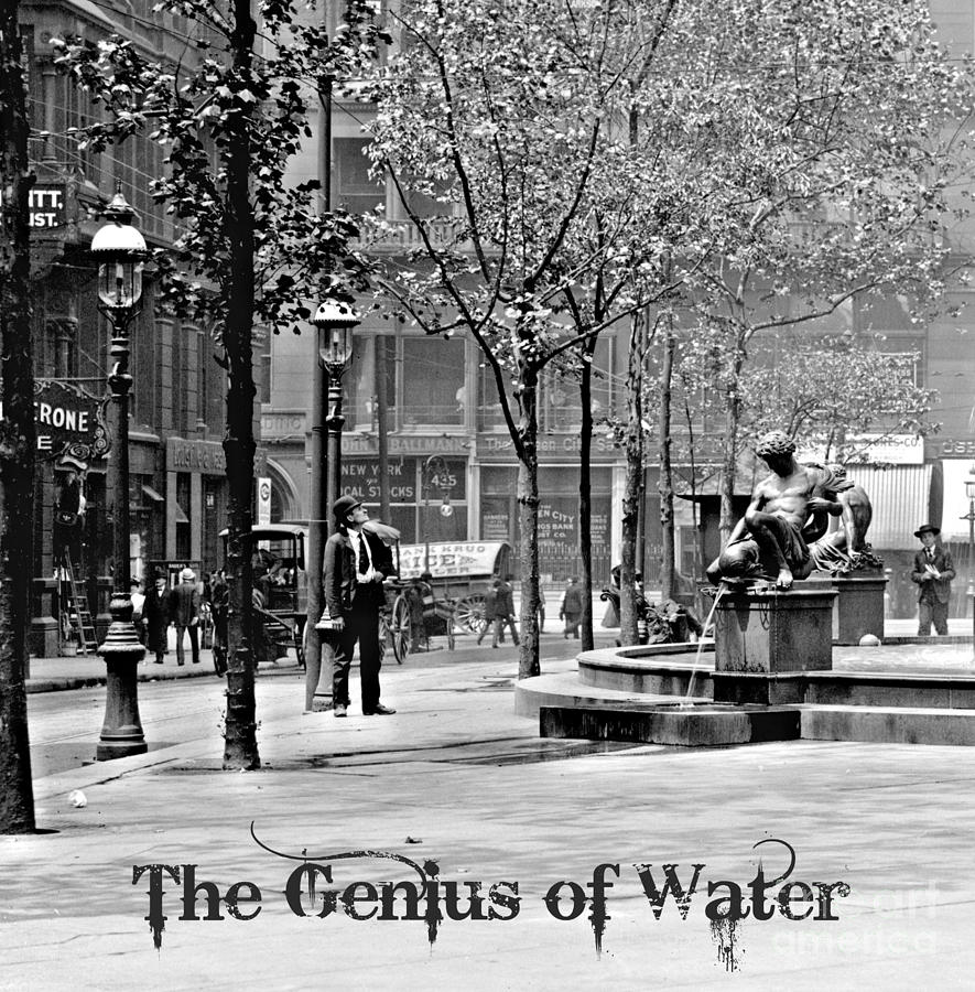 Tyler Davidson Fountain Photograph - The Genius Of Water 1906 by Padre Art