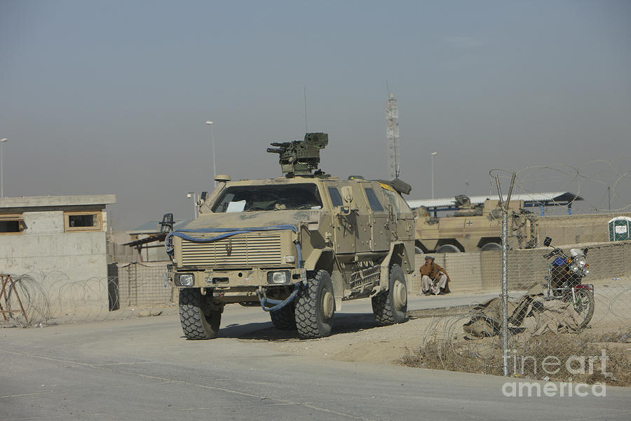 Mrap Photograph - The German Army Atf Dingo With A Turret by Terry Moore