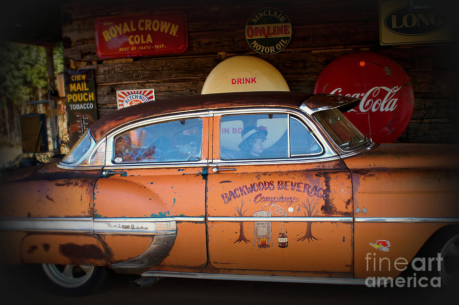 Moonshine Photograph - The Getaway Driver by Benanne Stiens
