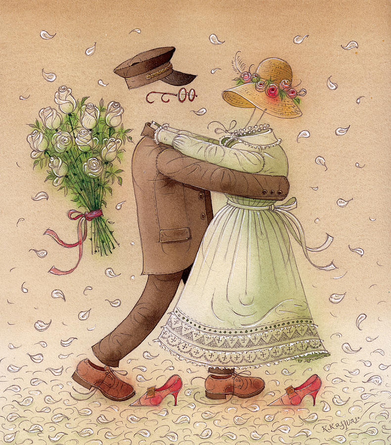 The Ghost Dance Painting by Kestutis Kasparavicius