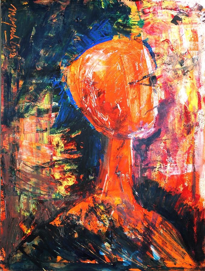 Portraits Painting - The Ghost by Mayank Gupta