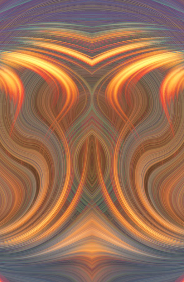Abstract Digital Art - The Ghost Of Fire by Linda Phelps