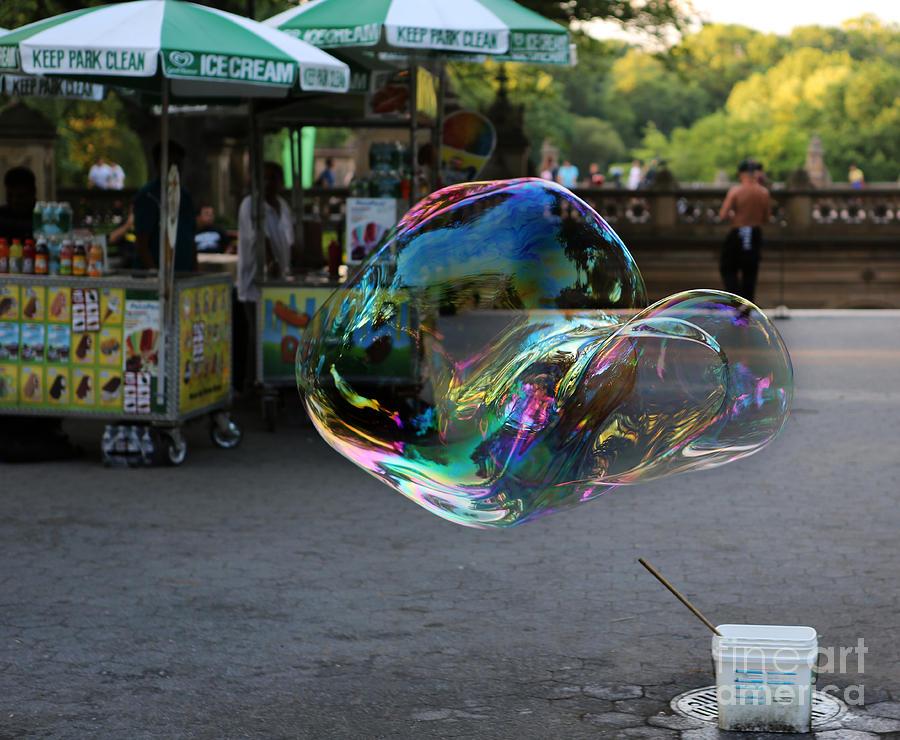 Lee Dos Santos Photograph - The Giant Bubble At Bethesda Terrace by Lee Dos Santos