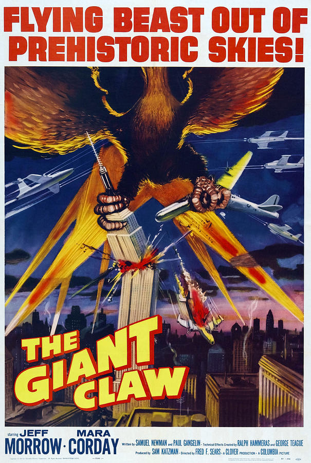 1957 Movies Photograph - The Giant Claw, Poster, 1957 by Everett