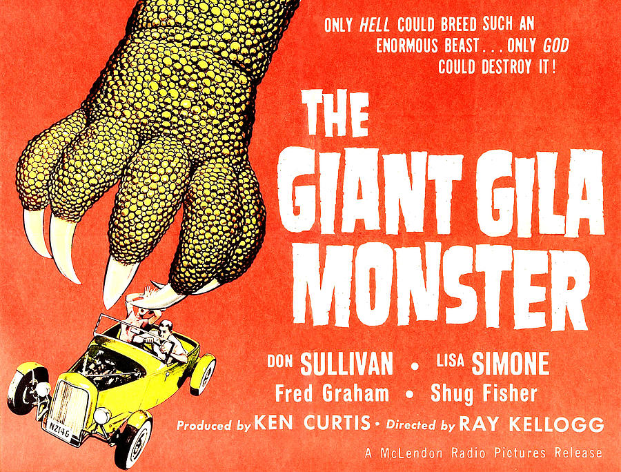 1959 Movies Photograph - The Giant Gila Monster, Half-sheet by Everett
