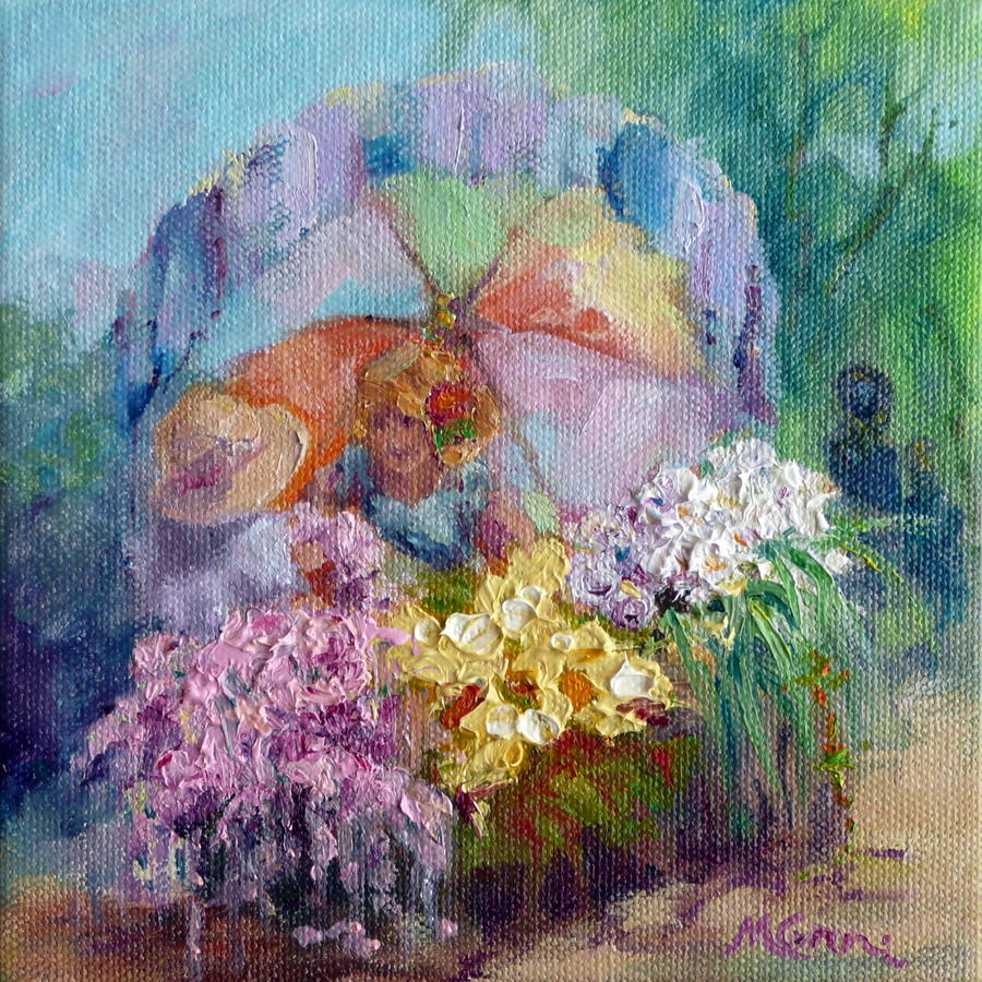 Flowers Painting - The Gift by Marie Green
