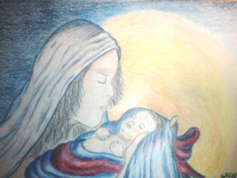 Christmas Drawing - The Gift by Terri Walker Pullen