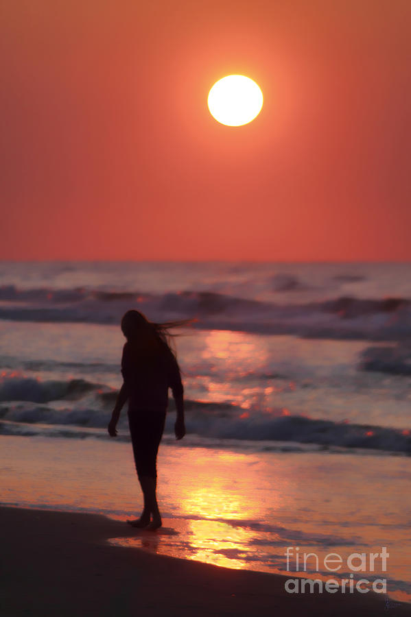 Girl Photograph - The Girl On The Beach by Jeff Breiman