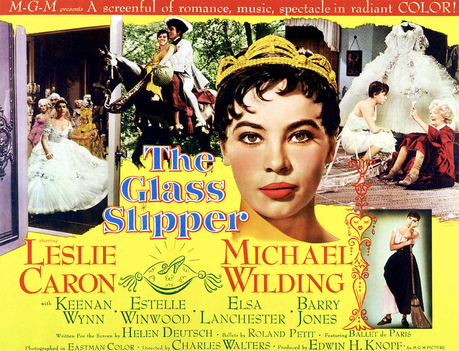 1955 Movies Photograph - The Glass Slipper, Leslie Caron by Everett