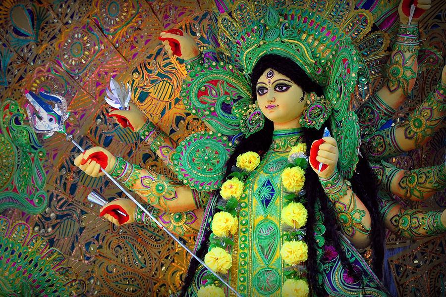 India Photograph - The Goddess Durga by Soma Debnath