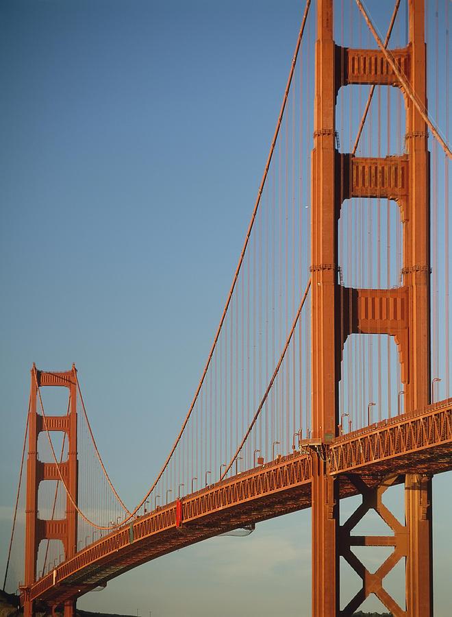 Urban Photograph - The Golden Gate Bridge At Dawn by Axiom Photographic